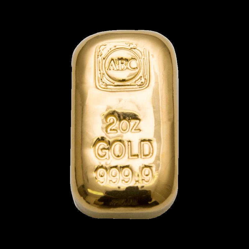 2oz ABC Bullion Cast Bar Gold
