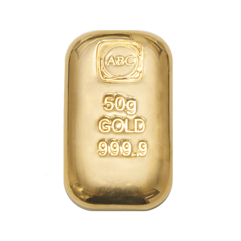 50g ABC Bullion Cast Bar Gold