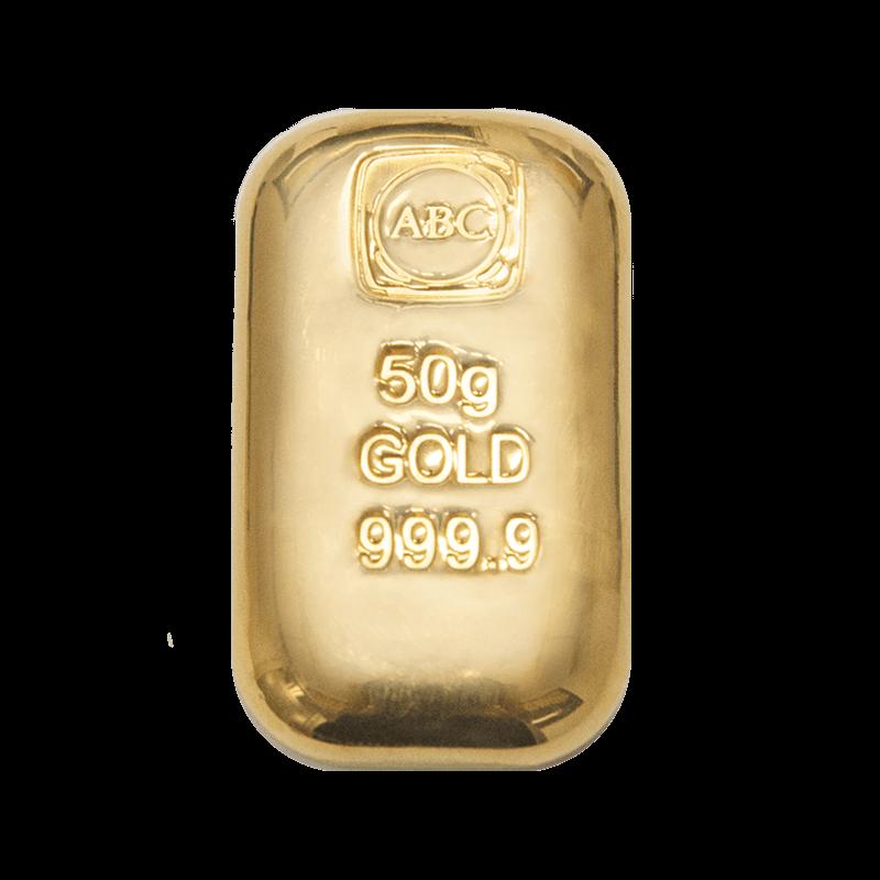 50g ABC Bullion Cast Bar Gold