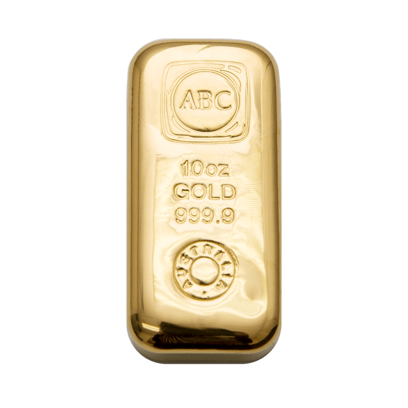 10oz ABC Bullion Cast Bar Gold