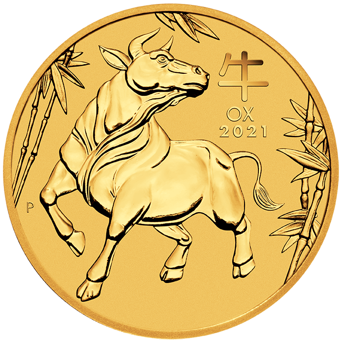 1oz Perth Mint Lunar Ox Minted Coin Gold