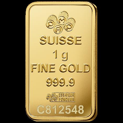 1g PAMP Minted Bar Gold