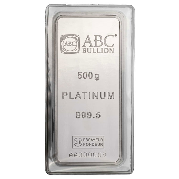 500g ABC Platinum Minted Tablet Platinum