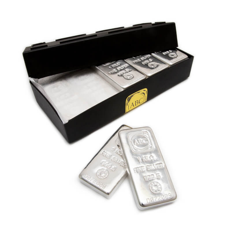1 kg ABC Bullion Cast Bar Silver