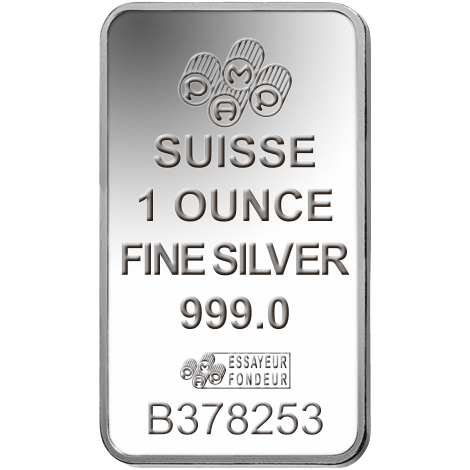 1oz PAMP Minted Bar Silver